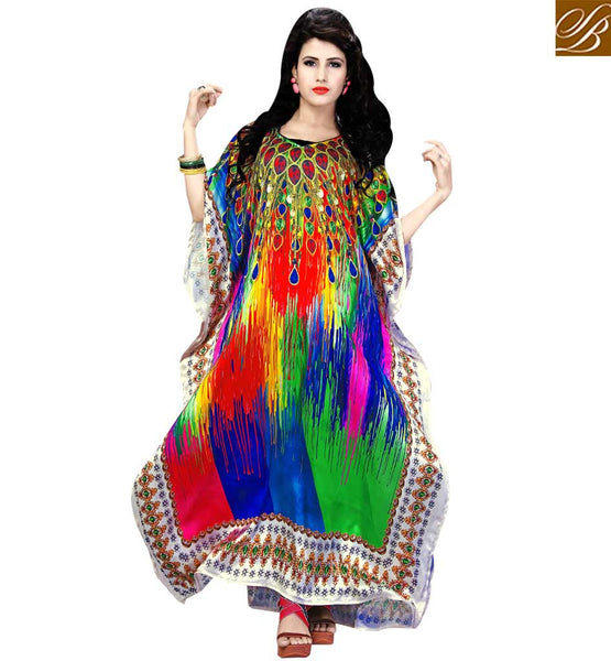 ENTICING DESIGNER PARTY WEAR KAFTAN SKKF1023 BY MULTI COLOR