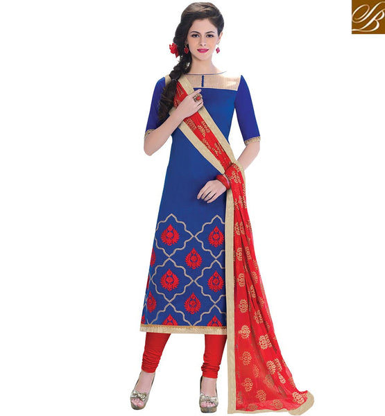 FROM STYLISH BAZAAR EXOTIC SALWAAR KAMEEZ STRAIGHT CUT STYLE VDCRF1024
