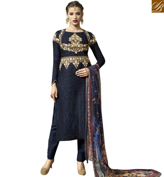 STYLISH BAZAAR HOT PAKISTANI STYLE PARTY WEAR ONLINE CHURRIDAR VDBLU10258