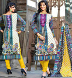 SUPERB AMALGAMATION OF STYLE AND GOOD LOOKS WITH THIS ABSTRACT PRINT ATTIRE SHALWAR KAMEEZ DESIGNS OF LATEST AND STYLISH FASHION PATTERN OF  SLEEVE DRESSES   #VDROO1025A