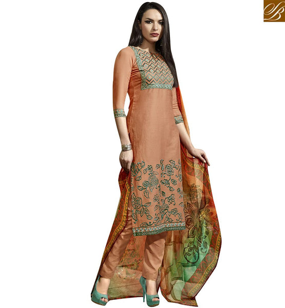 STYLISH BAZAAR BEAUTEOUS STRAIGHT CUT SALWAR KAMEEZ ONLINE SHOPPING VDBLU10261