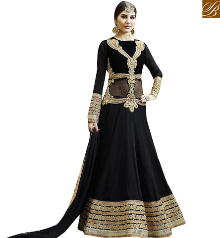 STYLISH BAZAAR GRACEFUL DESIGNER SALWAR KAMEEZ ANARKALI DRESS SUIT VDSKN10265