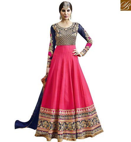 STYLISH BAZAAR GRAND EMBROIDERED SALWAR ANARKALI SUIT TYPE DRESS DESIGN VDSKN10266