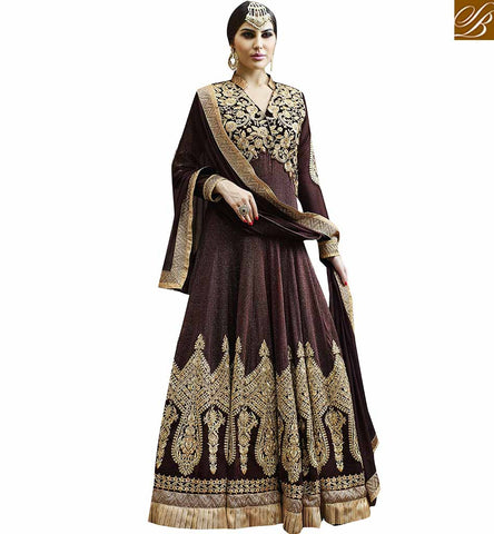 STYLISH BAZAAR LOVELY LONG ANKLE LENGTH ANARKALI SALWAAR KAMEEZ DRESS DESIGN VDSKN10269