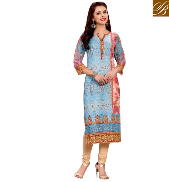 STYLISH BAZAAR PRETTY DESIGNER CASUAL WEAR KURTI RTEMP1027