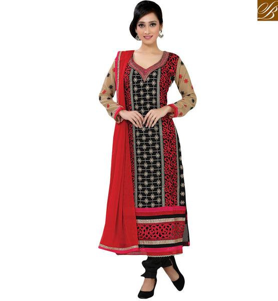 STYLISH BAZAAR DESIGNER EMBROIDERED SALWAAR SUIT RTFIB1027