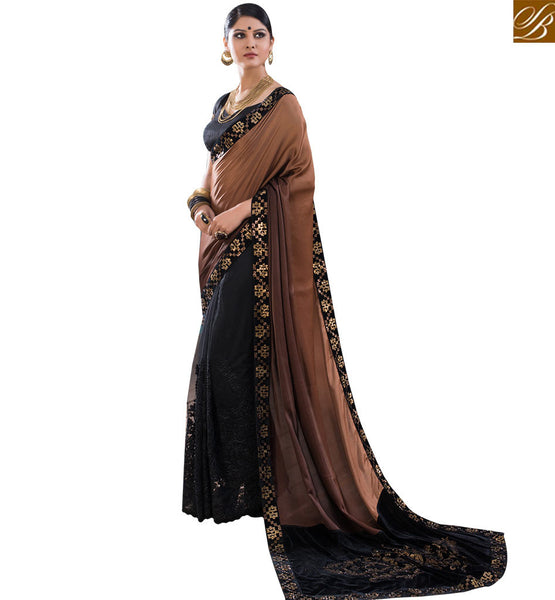 STYLISH BAZAAR MAGNIFICENT HEAVILY DESIGNED SAREE BLOUSE STYLE RTBTQ102A
