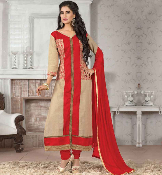 LATEST-SUIT-PATTERNS-2015-BEST-SHALWAR-KAMEEZ-DESIGNER-DRESSES-ONLINE--SHOPPING-WONDERFUL-CREAM-JUTE-COTTON-TOP-WITH-MAROON-BOTTOM-AND-NOTEWORTHY-CHIFFON-DUPATTA