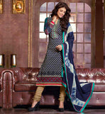 COTTON SALWAR SUIT WITH EXCELLENT NECK DESIGN & STUNNING DUPATTA