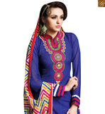 FROM STYLISH BAZAAR MARKABLE BLUE COLORED CASUAL WEAR SALWAR KAMEEZ RTSRH103
