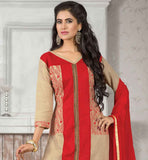 wONDERFUL-CREAM-JUTE-COTTON-TOP-WITH-MAROON-BOTTOM-AND-NOTEWORTHY-CHIFFON-DUPATTA-LOOK-MORE-GORGEOUS-BY-GETTING-DRESSED-IN-THIS--ZARI,-RESHAM-EMBROIDERY-AND-LACE-BORDER-ENHANCED