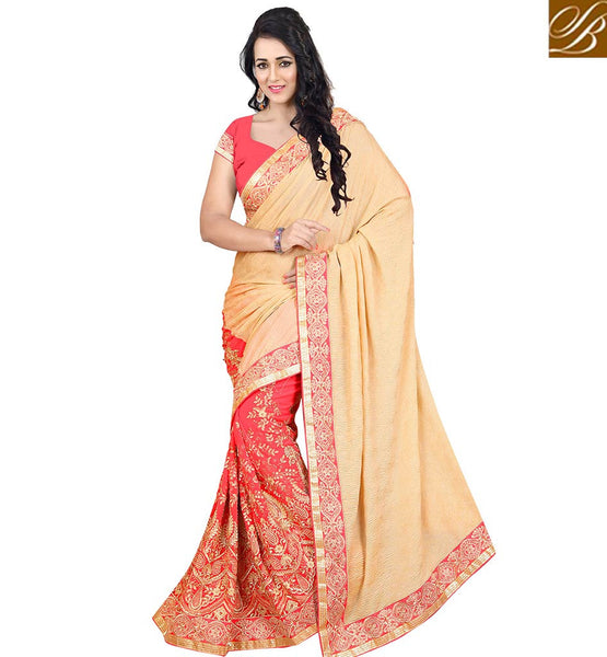 STYLISH BAZAAR EXQUISITE INDIAN SARI DESIGN ONLINE SHOPPING FOR PARTIES VDJAI10301