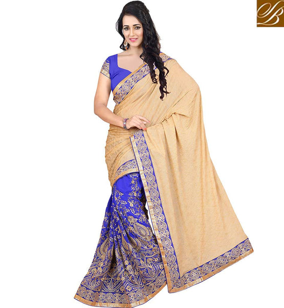 STYLISH BAZAAR MAGNIFICENT DESIGNER HALF AND HALF SAREE ONLINE VDJAI10307