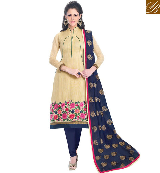 A STYLISH BAZAAR PRESENTATION GLAMOROUS STRAIGHT CUT SALWAAR SUIT PARTY WEAR DESIGN VDCRF1030