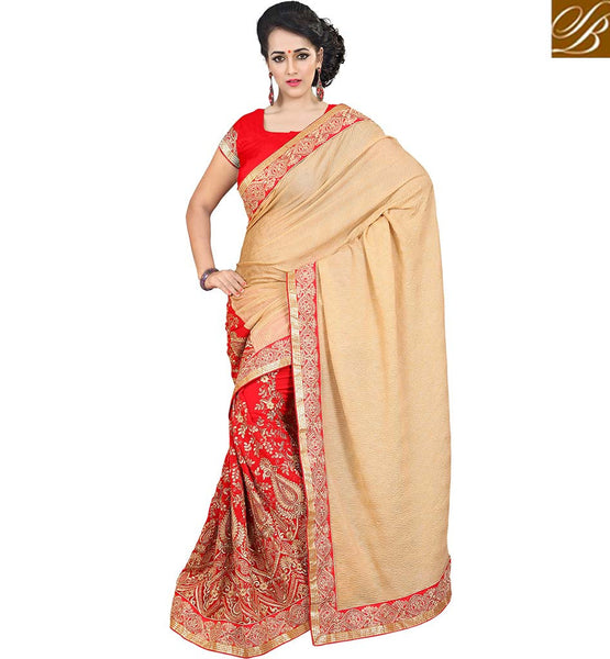 STYLISH BAZAAR ADORABLE DESIGNER PARTY WEAR WOMEN SAREE VDJAI10317