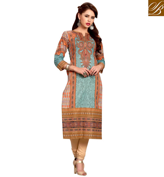 STYLISH BAZAAR SPLENDID CASUAL WEAR DESIGNER KURTI RTEMP1034