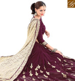 STYLISH BAZAAR PRESENTS ATTRACTIVE DESIGNED HALF N HALF EMBROIDERED SAREE VDSYH10353
