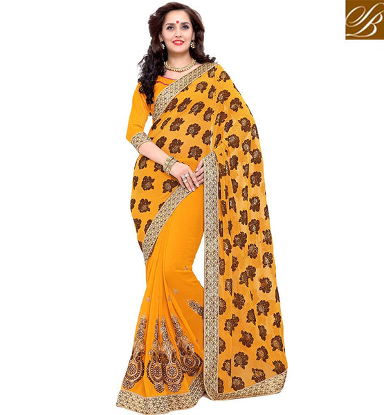 STYLISH BAZAAR MUSTERED DESIGNER SAREE WITH PLEASING DESIGNED PALLU VDSYH10359
