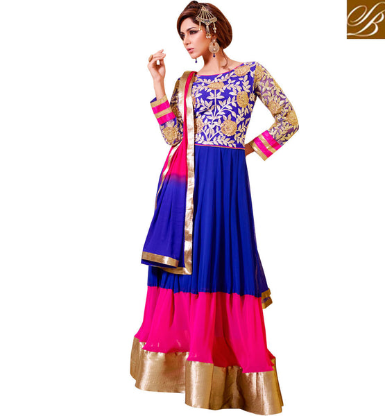 BLUE OCCASION WEAR DRESS VDSMR1035