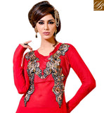 RED OCCASION WEAR DRESS VDSMR1038