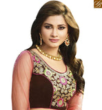 BROUGHT TO YOU BY STYLISH BAZAAR PINK DESIGNER SAREE BLOUSE WITH HEAVY EMBROIDERED VDGRC10393