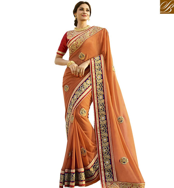 STYLISH BAZAAR ATTRACTIVE EMBROIDERED PARTY WEAR SAREE VDGRC10394