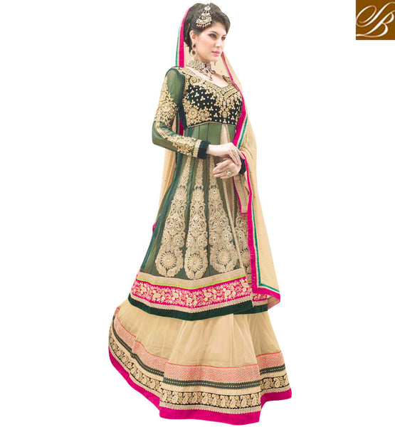 EXTRA-ORDINARY DESIGNER BRIDAL WEAR 3PC LEHENGA CHOLI SUIT RTBU103
