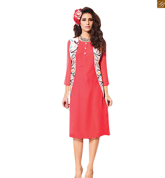 STYLISH BAZAAR CHARMING AND SASSY PINK KURTI DESIGN RTVIN103