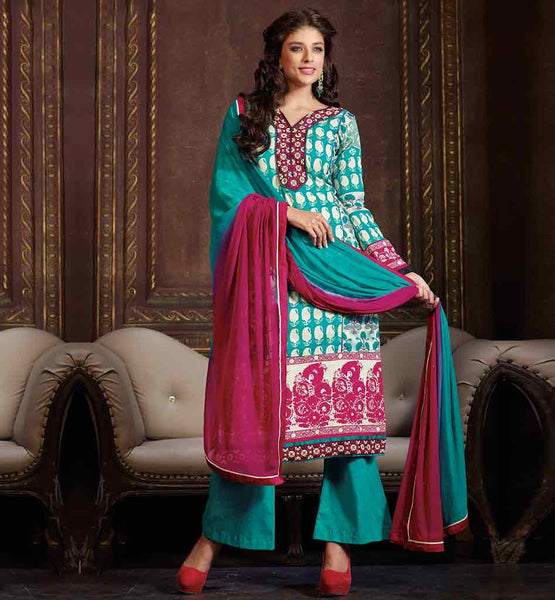 LUXURIOUS SKIN FRIENDLY PARTY WEAR COTTON SALWAR SUIT ONLINE INDIA