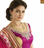 A STYLISH BAZAAR PRESENTATION BEAUTEOUS PINK DESIGNER SAREE WITH MODERN BLOUSE VDGRC10402