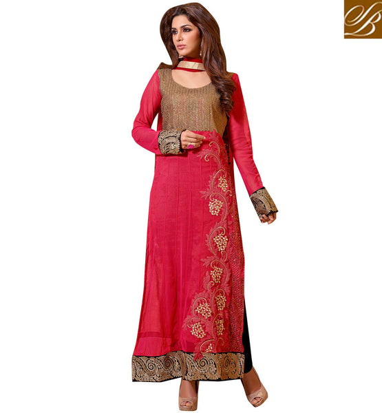 RED OCCASION WEAR DRESS VDSMR1040