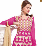 PINK LONG DESIGNER SALWAR SUIT WITH HEAVY ZARI AND STONE WORK