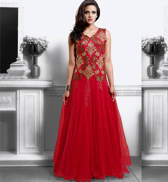 RAVISHING RED GOWN VDPAK1043