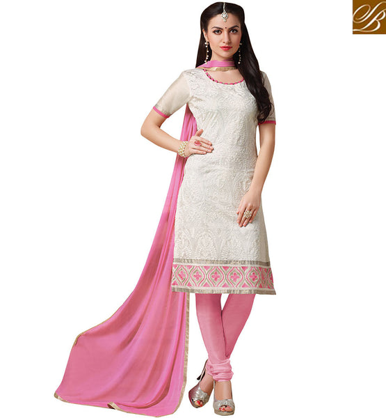 FROM THE HOUSE STYLISH BAZAAR PREMIUM DESIGNER STRAIGHT CUT SALWAAR KAMEEZ VDCRF1043
