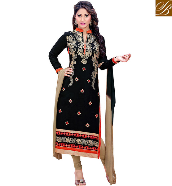 STYLISH BAZAAR ELEGANT BLACK DISPLAYING SALWAR KAMEEZ DUPATTA VDDYA10444