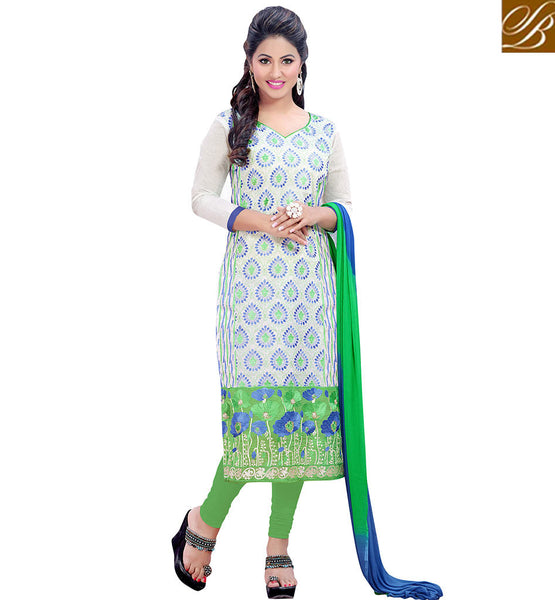 STYLISH BAZAAR GOOD LOOKING OFF WHITE SALWAR KAMEEZ DUPATTA VDDYA10445