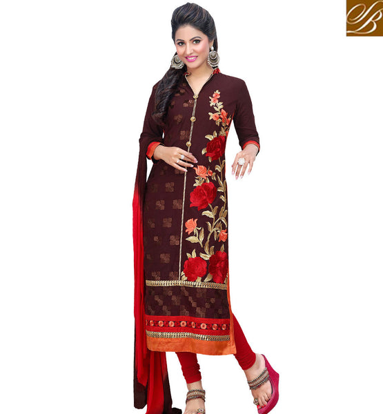 STYLISH BAZAAR HINA KHAN PLEASING BLOWN SALWAR KAMEEZ DUPATTA VDDYA10447