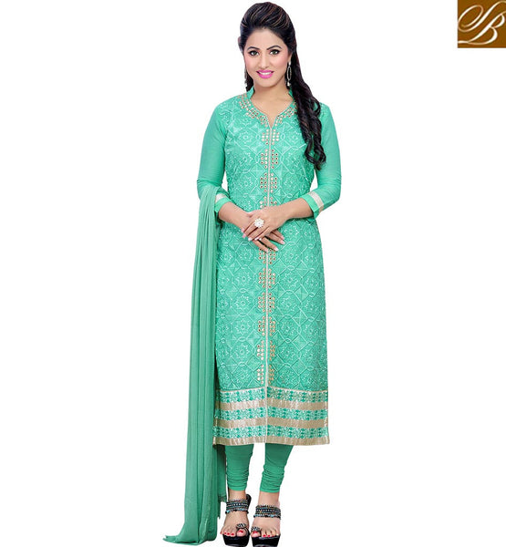 STYLISH BAZAAR MAGNIFICENT SEA GREEN DESIGNER AKSHARA SALWAR KAMEEZ VDDYA10448