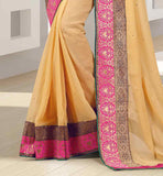 RICH BORDER CHIFFON SARI WITH DUPION CHOLI CHIFFON SARIS ONLINE SHOPPING INDIA CASH ON DELIVERY