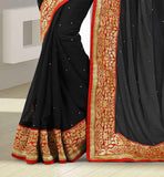 GOOD LOOKING INDIAN DESIGNER SARI FOR PARTIES WITH PURE DUPION CHOLI BUY PARTY WEAR CHIFFON SAREE WITH DUPION BLOUSE