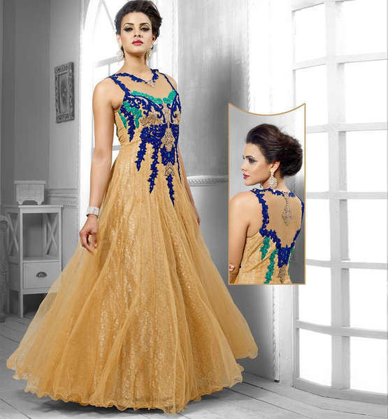 designer evening gowns online india