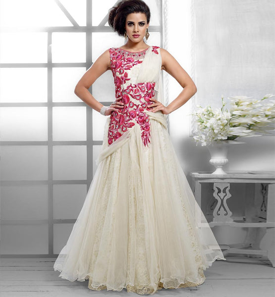 GLAM OFF WHITE GOWN VDPAK1047