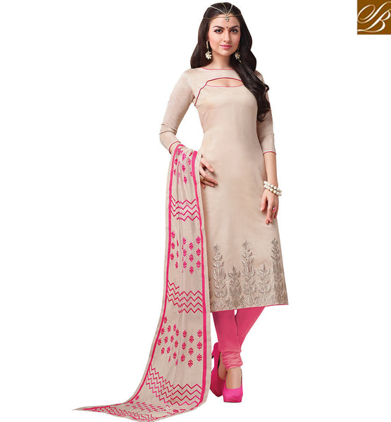 STYLISH BAZAAR PRESENTS APPEALING STRAIGHT CUT SALWAAR KAMEEZ DESIGN VDCRF1048