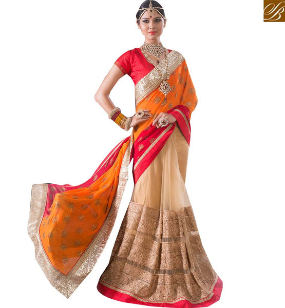 STYLISH BAZAAR SPLENDID DESIGNER PARTY WEAR SARI RTBTQ104B