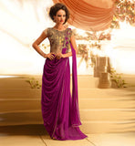 IMPERIAL LOOK DESIGNER EVENING WEAR GOWN FOR WEDDINGS AND PARTIES
