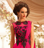 SATIN GEORGETTE HOLLYWOOD STYLE GOWN AT COOL RATES