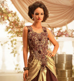 SUPERLATIVE INDIAN WEDDING WEAR DUAL COLOR GOWN