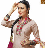 FROM THE HOUSE OF STYLISH BAZAAR ELEGANT PEACH COLOUR EMBROIDERED SALWAR KAMEEZ VDELT10553