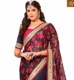 FROM STYLISH BAZAAR SPLENDID HALF AND HALF LYCRA SAREE WITH BEAUTIFUL WORK ON THE BLOUSE VDTMN10557