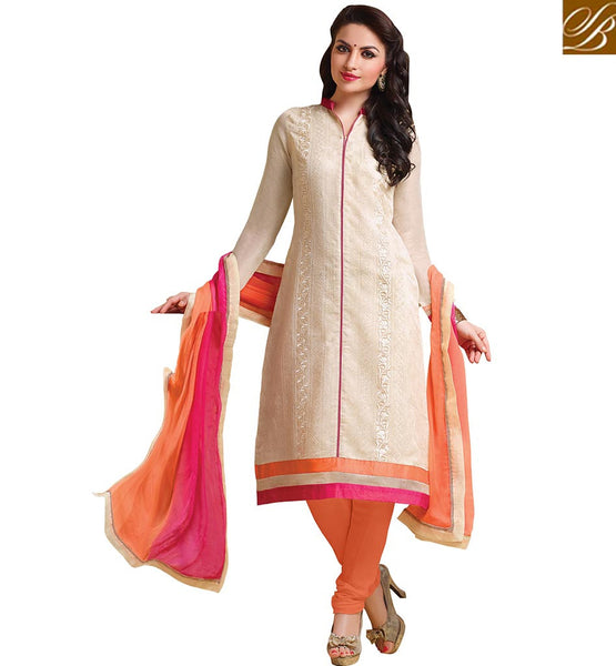 A STYLISH BAZAAR PRESENTATION EXQUISITE PUNJABI STRAIGHT CUT SALWAAR SUIT DESIGN VDCRF1055